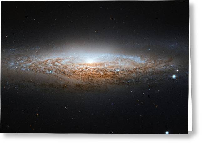 Interstellar Space Photographs Greeting Cards - NGC 2683 Spiral galax Greeting Card by Celestial Images
