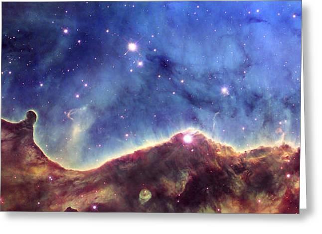 Hubble Space Telescope Views Greeting Cards - NGC 3324  Carina Nebula Greeting Card by Nicholas Burningham