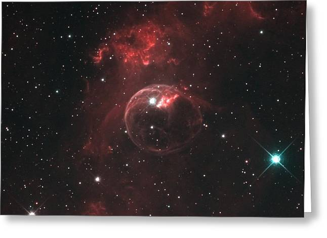 Interstellar Space Greeting Cards - Ngc-7635 Greeting Card by Celestial Images