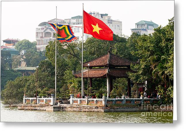 Viet Nam Greeting Cards - Ngoc Son Temple  01 Greeting Card by Rick Piper Photography