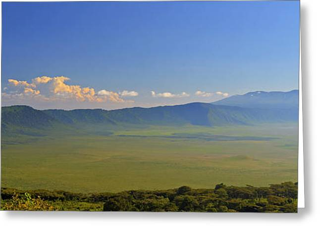 African Heritage Greeting Cards - Ngorongoro Crater Greeting Card by Claudio Bacinello