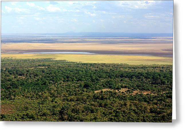 Ngorongoro Crater Tanzania East Africa Greeting Card by Aidan Moran