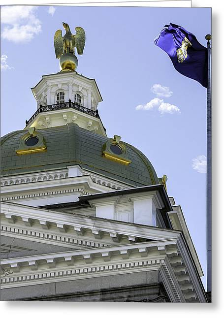 Concord Greeting Cards - NH State House Dome Greeting Card by Betty Denise