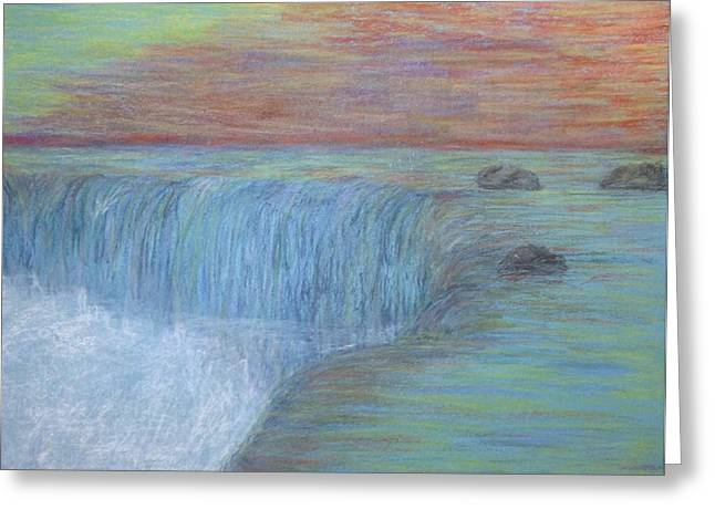 Waterfall Pastels Greeting Cards - Niagara Greeting Card by Bradley Warner
