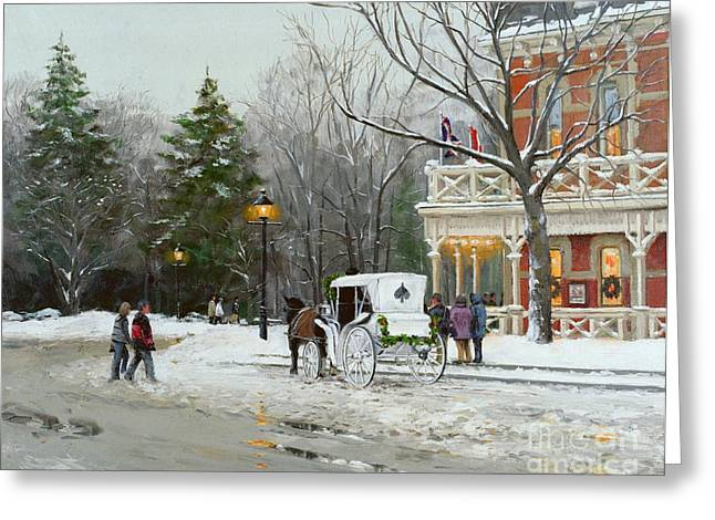 American Fleet Greeting Cards - Niagara Carriage by the Prince of Wales Greeting Card by Michael Swanson