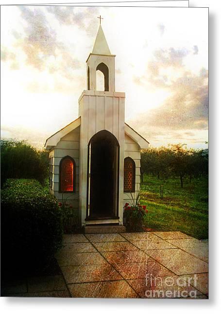 Wayside Greeting Cards - Niagara Church Greeting Card by Scott Pellegrin