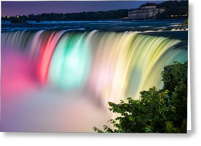Amazing Sunset Greeting Cards - Niagara Falls Colors Greeting Card by James Wheeler