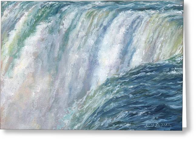 Crashing Greeting Cards - Niagara Falls Greeting Card by David Stribbling