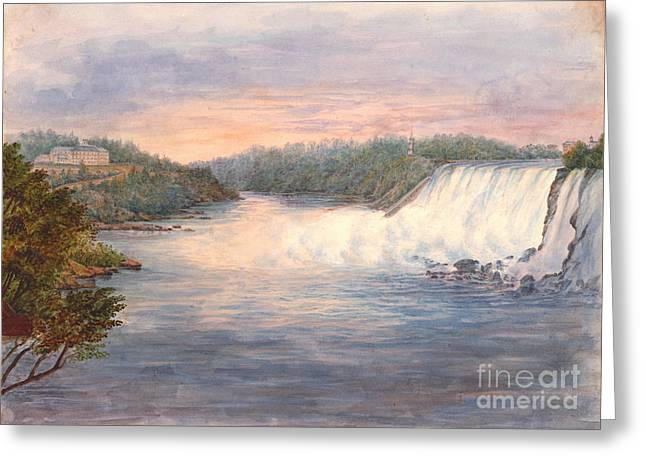 Niagara Falls From Table Rock 1846 Greeting Card by Padre Art