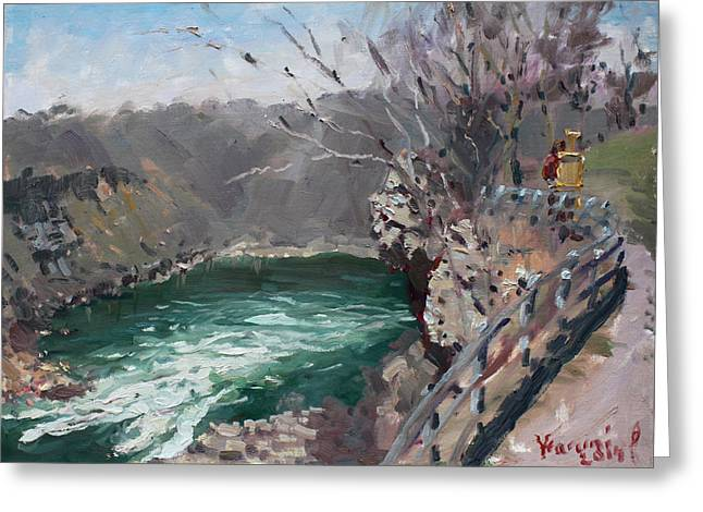 Border Greeting Cards - Niagara Falls Gorge Greeting Card by Ylli Haruni
