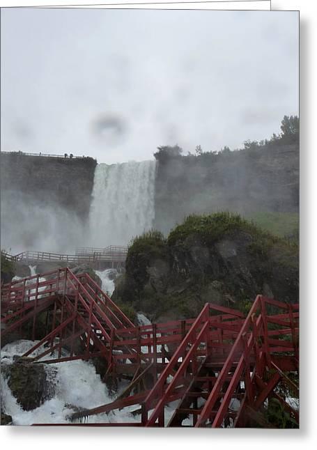 Remond Greeting Cards - Niagara Falls in the Rain Greeting Card by Rhonda Chase