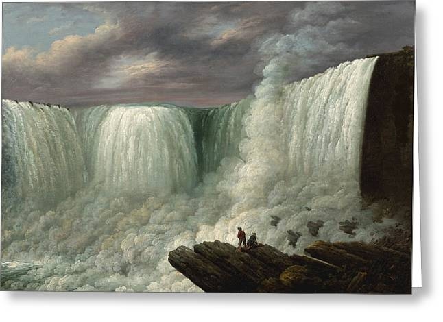 Western New York Greeting Cards - Niagara Falls Greeting Card by Joseph Otis Minott