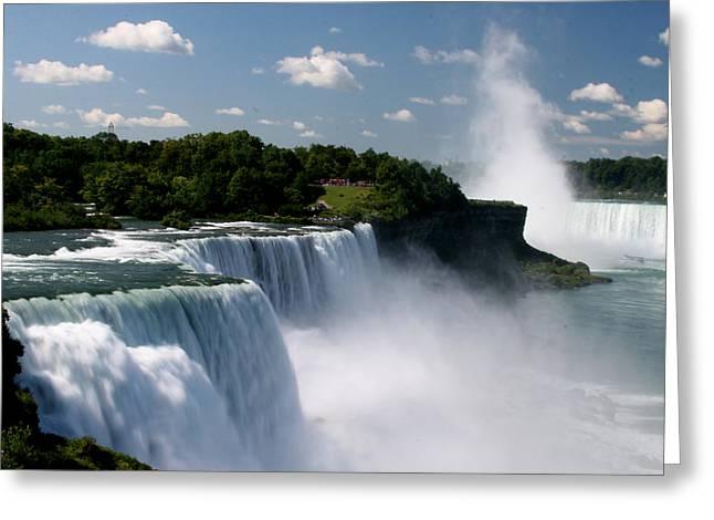 Horseshoe Falls Greeting Cards - Niagara Falls Greeting Card by Sandy Fraser