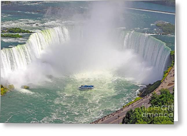 Niagara Greeting Cards - Niagara Falls Summer Greeting Card by Charline Xia