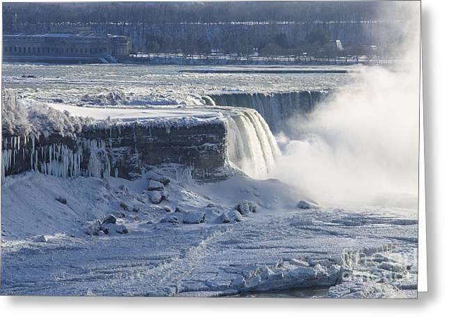 Destination Scenics Pyrography Greeting Cards - Niagara Falls Greeting Card by Yoshiko Wootten