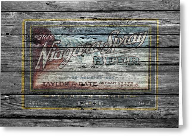 Saloons Greeting Cards - Niagara Spray Beer Greeting Card by Joe Hamilton