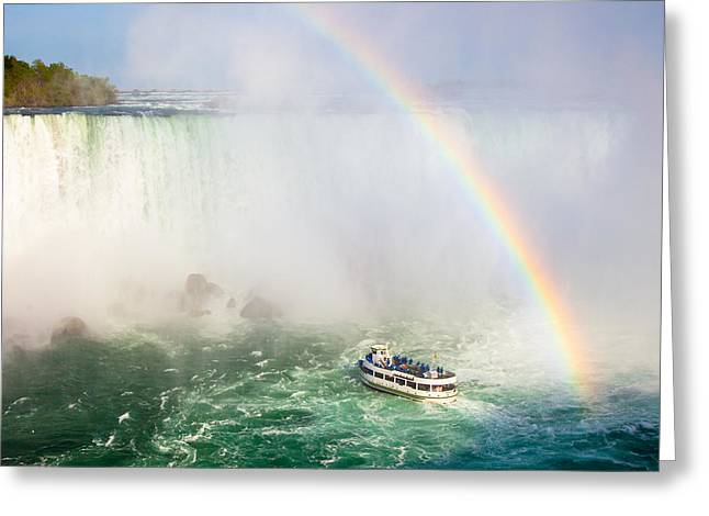 Horseshoe Falls Greeting Cards - Niagaras Maid of the Mist Greeting Card by Adam Pender