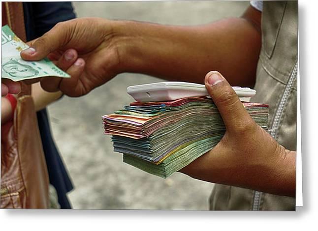 Nicaraguan Cordoba And Costa Rican Greeting Card by Panoramic Images