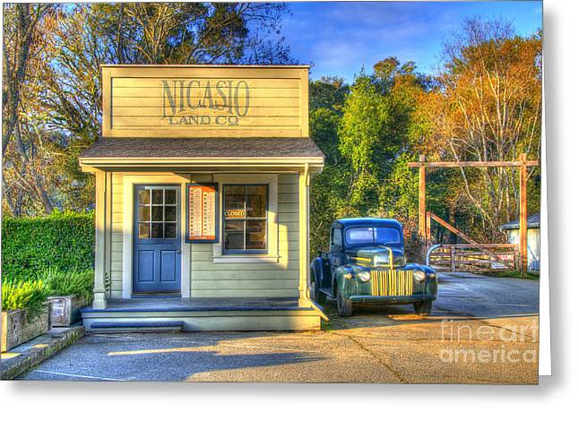 Store Fronts Digital Greeting Cards - Nicasio Land Company Greeting Card by Alberta Brown Buller