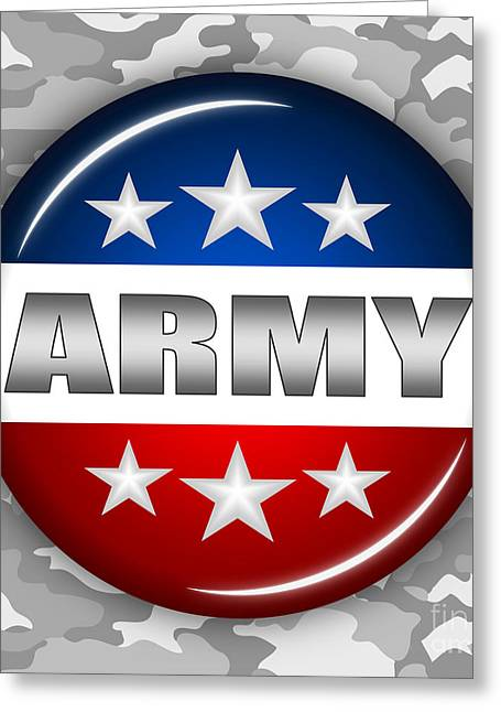 Nice Army Shield 2 Greeting Card by Pamela Johnson