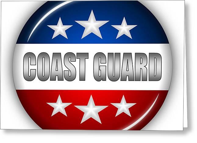 Nice Coast Guard Shield Greeting Card by Pamela Johnson