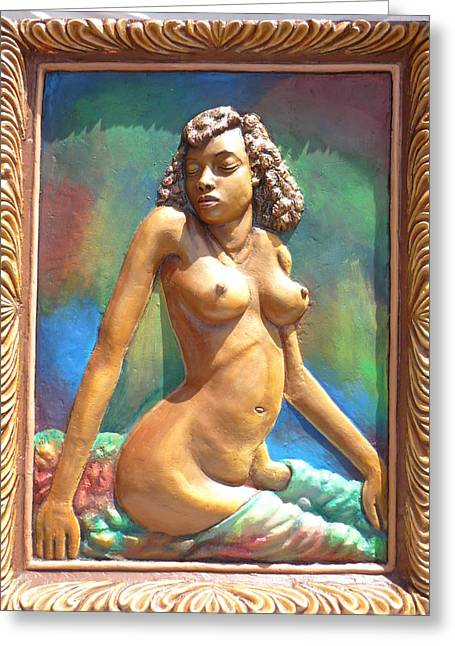 Nude Relief Sculpture Greeting Cards - Nice Morning  Greeting Card by Adrian Mwaikambo