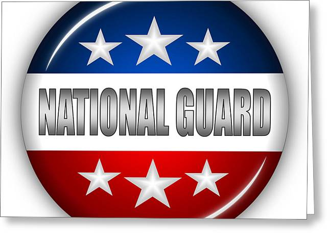 Nice National Guard Shield Greeting Card by Pamela Johnson