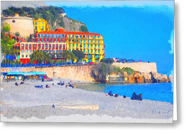 Nice Riviera 1 Greeting Card by Yury Malkov