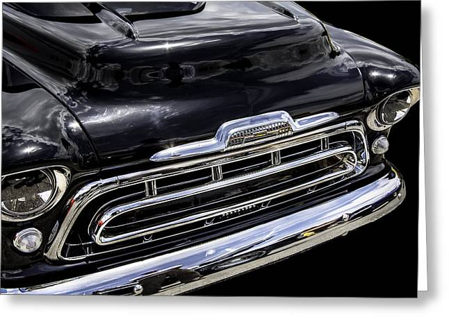 Old Trucks Greeting Cards - Nice Smile 1957 Chevrolet Truck Greeting Card by Rich Franco