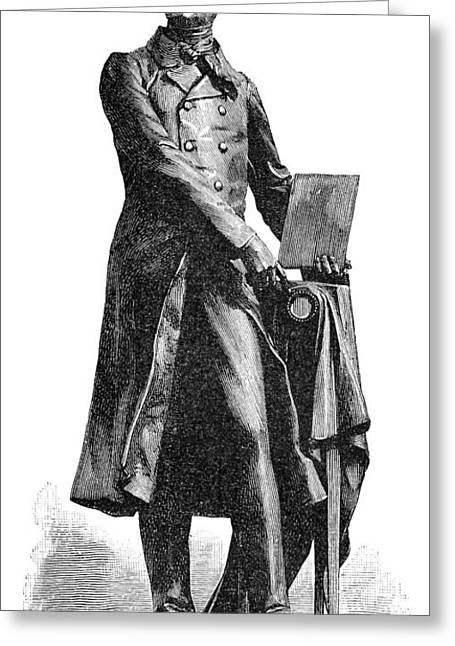 Statue Portrait Photographs Greeting Cards - Nicephore Niepce, French Inventor Greeting Card by Spl