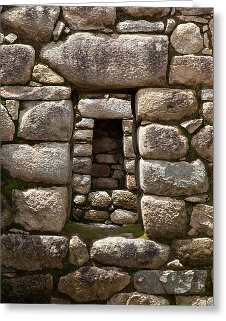 Niche And Stone Window Align Perfectly Greeting Card by Jaynes Gallery
