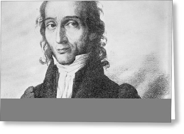 Nicholo Paganini, Italian violinist Greeting Card by Science Photo Library