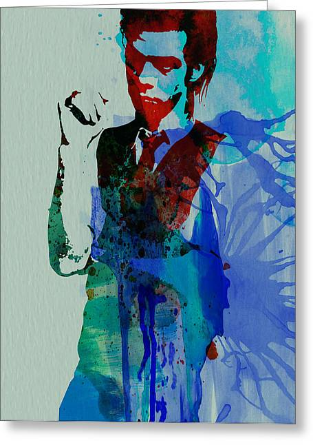 Bad Greeting Cards - Nick Cave Greeting Card by Naxart Studio