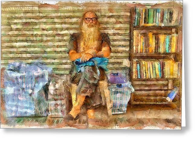 Live Art Greeting Cards - Nick the Booker at Lamma Island Greeting Card by Yury Malkov