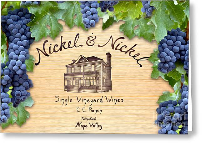 Merlot Greeting Cards - Nickel and Nickel Greeting Card by Jon Neidert