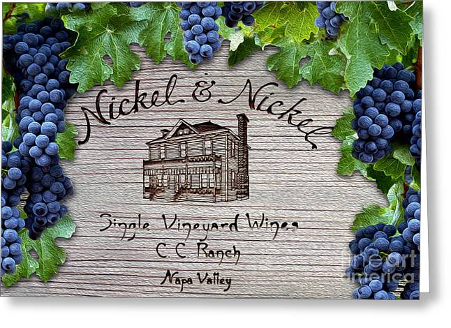 Napa Valley Greeting Cards - Nickel and Nickel Winery Greeting Card by Jon Neidert