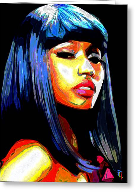 Fli Greeting Cards - Nicki Minaj Greeting Card by  Fli Art