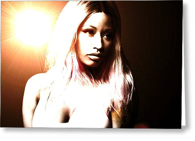 Nicki Minaj Greeting Cards - Nicki Minaj Flare for the Dramatic Greeting Card by Anibal Diaz