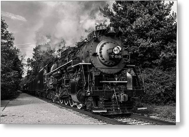 Steam Locomotive Greeting Cards - Nickel Plate Berkshire 765 Greeting Card by Dale Kincaid