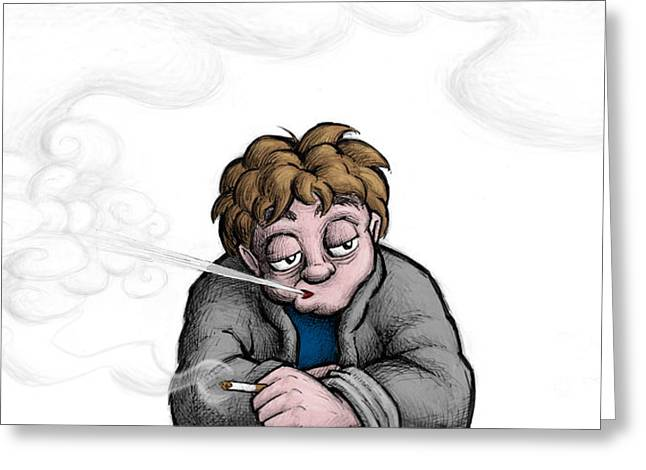 Sedation Greeting Cards - Nicotine Moments II Greeting Card by M o R x N