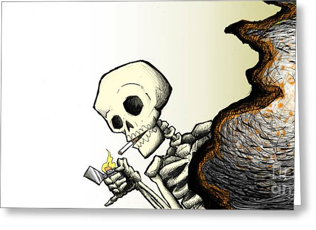 Sedation Greeting Cards - Nicotine Moments III Greeting Card by M o R x N