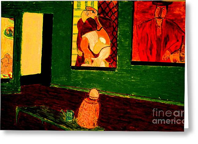 Modigliani Pastels Greeting Cards - Nidnight with Vincent Greeting Card by Bill OConnor