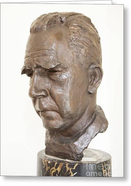 Niel Greeting Cards - Niels Bohr Sculpture Greeting Card by Adam Hart-davis