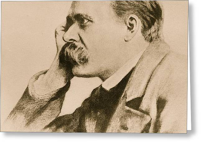 Nietzsche Greeting Card by Anonymous