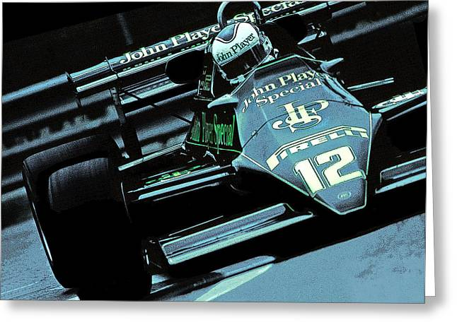 Canadian Grand Prix Greeting Cards - Nigel Greeting Card by Mike Flynn