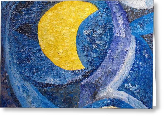 Night Greeting Card by Agnes Roman