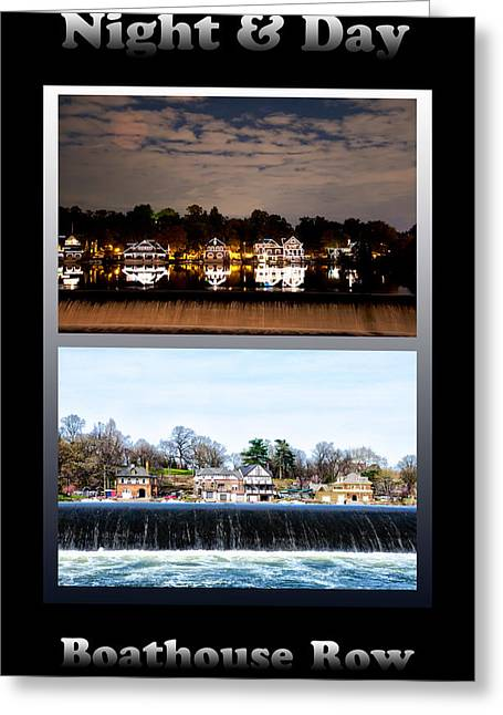 Rowing Crew Greeting Cards - Night and Day Greeting Card by Bill Cannon