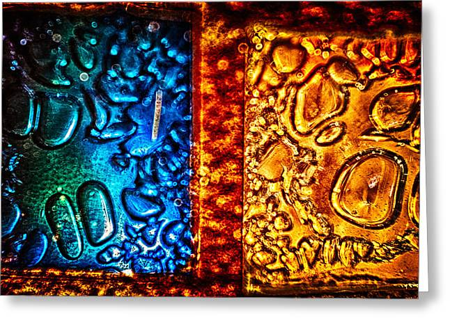 Ceramic Glass Art Greeting Cards - Night and Day Greeting Card by Omaste Witkowski