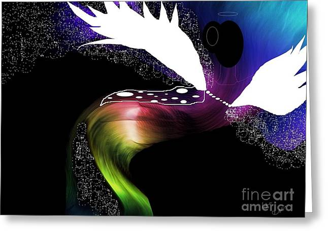 Night Angel Greeting Cards - Night Angel Greeting Card by Sharon Ann Calvo