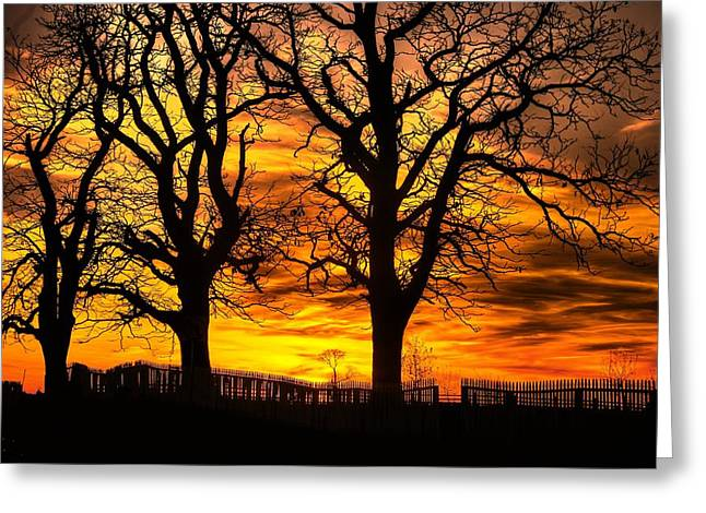 Third Day Of Battle Greeting Cards - Night Approaches-1a Sunset at the Gettysburg Battlefield Greeting Card by Michael Mazaika